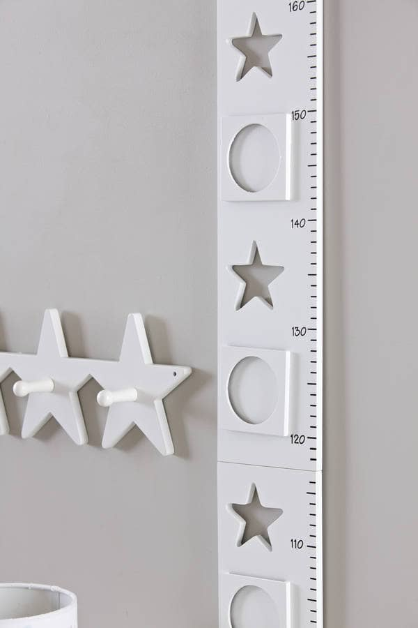 Height Chart Star, White